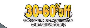 30-60% off 1000's of Appliances