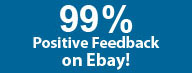 99.7% Positive Feedback on Ebay